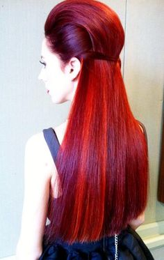 Gorgeous straight red hair!