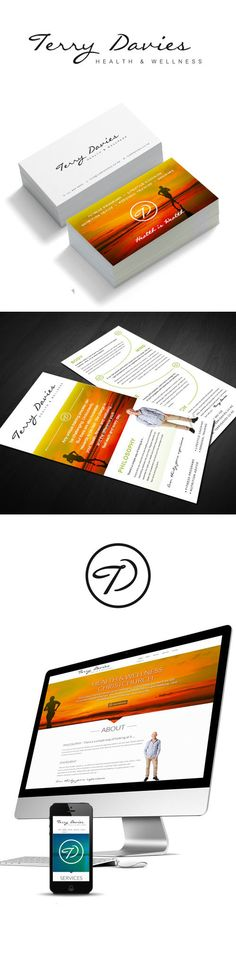 Terry Davies branding, brochure and parallax scrolling website
