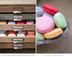 Buffet de dulces con aire vintage