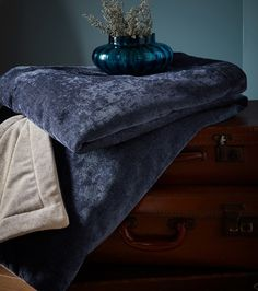 Traditional, Classic or Contemporary? A beautifully classic collection offering a stylish approach for contemporary and traditional interiors. Peter Lee, Velvet Bedspread, Traditional Interior, Bed Throws, Drapery Fabric, Classic Collection, Color Of The Year, Rustic Interiors, Blue Velvet