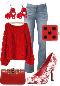 """Roller Derby"" by jaime-bergren-hanish ❤ liked on Polyvore"