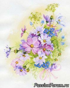 Космея - запись пользователя Olga (Ольга) в сообществе Картинки для творчества в категории Цветы и натюрморты