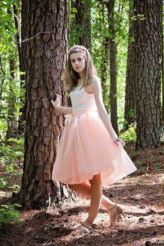 Blush Pink Tutu Tulle skirt