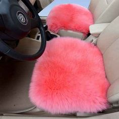 And appease your sore ass with a fluffy pink car seat.