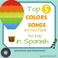 Our favorite songs about colors for kids with links to YouTube. Los mejores canciones de los colores para niños.