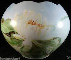 Vintage Antique Hand painted Porcelain Vase Bowl Water Lily Classic Bavarian $42.95
