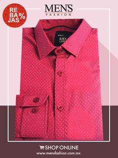 Las #Camisas de color #Rojo, le darán un toque juvenil a tu look, para ti por $ 280. ¡Cómprala Ya! Dale clic: www.mensfashion.com.mx