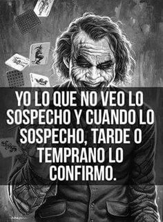 Haci de facil Joker Frases, Joker Quotes, Funny Quotes, Life Quotes, Inspirational Phrases, Badass Quotes, Joker And Harley Quinn, Spanish Quotes, Quotations