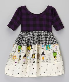 Purple & Black Trick-or-Treat Dress - Infant | zulily