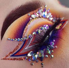 Get Free Cosmetic Products! Makeup Eye Looks, Eye Makeup Art, Colorful Eye Makeup, Crazy Makeup, Cute Makeup, Glam Makeup, Pretty Makeup, Eyeshadow Makeup, Beauty Makeup