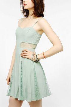 Lush Lace Inset Skater Dress