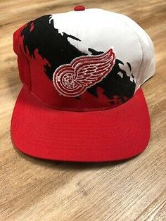 Caps Hockey, Hockey Hats, Baseball Hats, Red Wing Logo, American Hockey League, Detroit Red Wings, Snapback Hats, Nhl, Vintage Hats