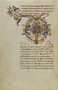 "openmarginalis: ""Inhabited Initials D, Ms. Ludwig IX 1 by unknown creator, Montecassino, Italy c. 1153 via J. Paul Getty Museum (Getty Open Content Program), Public Domain "" Fun fact: The illuminator..."