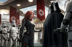 Do not underestimate the awesome power of this Star Wars art