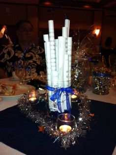 Someone posted this on Facebook saying that they had sheet music as their centerpieces at their band banquet. Nice!
