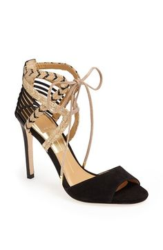Lace-Up Ankle Strap Sandal
