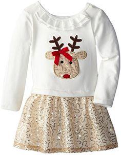Bonnie Jean Little Girls' Reindeer Sequined Applique Skirt Set, Gold, 4 Bonnie Jean http://www.amazon.com/dp/B00MIIM24E/ref=cm_sw_r_pi_dp_vq-wub1F205NC