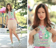 Girly Style With Matching Pastel Color by Care bears