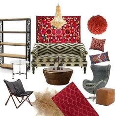Boho Chic, Zuniga Interiors Living room
