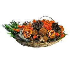 Szárazvirág asztaldísz lótusszal Autumn Decorations, Fall Decor, Ornaments, Christmas Decorations, Ornament, Fall Decorating, Decor