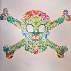 #pirate #jollyroger #LostOcean #coloring #johannabasford #adultcoloring #coloraddict #coloringbook #coloringbookforadults @johanna_basford