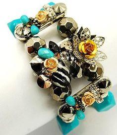 Turquoise Stretch Bracelets by onespiritartworks for $26.00