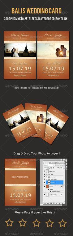 Bali Wedding Card - Wedding Card Invitation Template PSD. Download here: http://graphicriver.net/item/balis-wedding-card/6684319?s_rank=101&ref=yinkira
