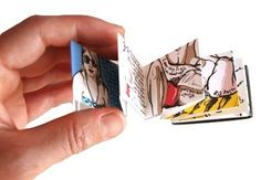Tiny handmade books in a matchbox! Lovely tales and stories...