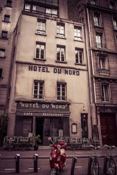 The famous Hotel Du Nord, featured in a 1938 French movie by that name. It's next to the locks at Canal St Martin. | Flickr - Photo Sharing!