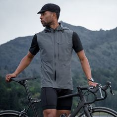 The Meridian Lightweight Waterproof Cycling Vest || ACRE by Mission Workshop