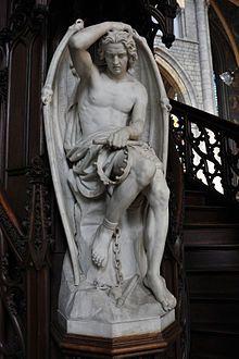 """Lucifer : (du latin """"lux"""", lumière et """"ferre"""", porter). En tant que Dieu latin, Lucifer était le porteur de lumière, l'esprit de l'air et personnifiait la connaissance. L'expression """"Porteur de lumière"""" était aussi utilisée durant les premiers siècles après J.C. pour désigner le Christ. Ce n'est qu'au Haut Moyen Age que le nom de Lucifer a été employé pour désigner Satan. Par orgueil et avidité du pouvoir, il a voulu devenir l'égal de Dieu et s'est révolté contre lui."""