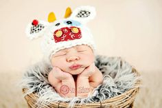 Baby Cow Hat MULTIPLE sizes Newborn Photo Prop by bitOwhimsy