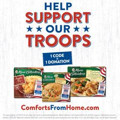 Help Support our Troops with Comforts from Home
