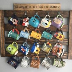 Love this coffee cup holder! - shruthi anirudha - Love this coffee cup holder! Love this coffee cup holder! Coffee Mug Display, Coffee Cup Holder, Coffee Cups, Tea Cups, Casa Disney, Disney House, Disney Disney, Disney Dorm, Disney Magic