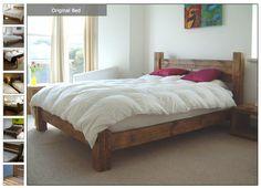Bed frame; reclaimed wood