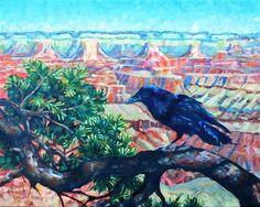 """BIRDS EYE VIEW"" - Original Fine Art for Sale - © Kristy Tracy"