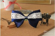 Wholesale New Gilrs' Bow DIY blue Hairclips Bow hair band spring clips hair accessories A072, $1.89/Piece | DHgate