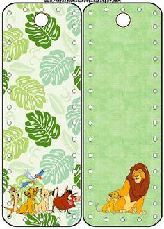 LARGE PRINTABLE SET- Rei Leão (Lion King) – Kit Completo com molduras para convites, rótulos para guloseimas, lembrancinhas e imagens!   Fazendo a Nossa Festa