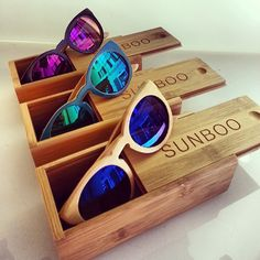 The Unique Sunboo Sunglasses are in 100% Bamboo!