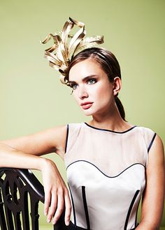 'Gloriosa', another stunning #headpiece for ss13 by @Gina Giampaolo Millinery #metallics