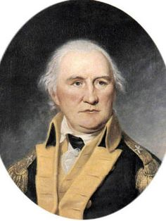 Fort Morgan, located on Dauphin Island, is named after Revolutionary War hero General Daniel Morgan, who led a group of snipers, named Morgan's Sharpshooters, in defense of Boston after the Battle of Lexington and Concord in 1775. He is shown here in a portrait painted by Charles Wilson Peale.