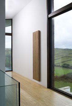Radiators - Contemporary, designer, stainless steel, aluminium woody model in wood