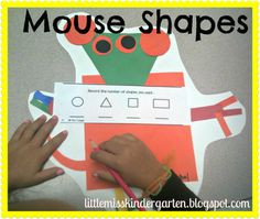 Little Miss Kindergarten - Lessons from the Little Red Schoolhouse!: Mouse Shapes Fun! Including shape songs.
