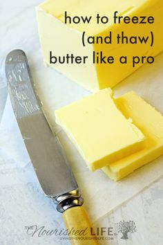 Maybe your favorite butter was on sale. Or you scored some amazing fresh butter at the farmers market. Either way you have way more butter than you need and it begs the question: can you freeze butter? Freezing Butter, Freezing Milk, Healty Dinner, Canning Recipes, Canning 101, Pressure Canning, Canning Jars, Homemade Butter, Frozen Meals
