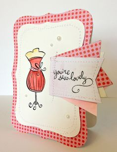 Lawn Fawn -Sew Lovely _  Samantha M updated this classic LF set with trendy banners and polka dots! _ you're sew lovely card - ls   Flickr - Photo Sharing!