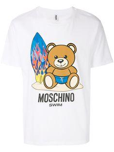 61d07aab16e Shop Moschino surf teddy T-shirt.