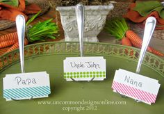 Washi Tape Place Cards by Uncommon Designs. Washi Tape Uses, Washi Tape Crafts, Paper Crafts, Dollar Store Crafts, Diy Crafts To Sell, Easy Crafts, Diy Wedding Bouquet, Diy Party, Party Ideas