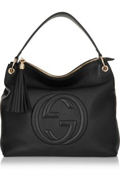 Gucci | Soho Hobo textured-leather shoulder bag | NET-A-PORTER.COM