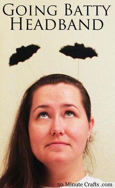 going batty headband on 30 minute crafts