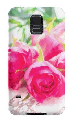 yumehanaによる「ピンクのバラ」サムスンギャラクシーケース&スキン  Redbubble